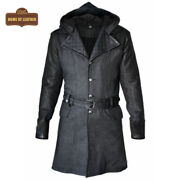 Assassins Creed Men's Jacket Grey Syndicate Jacob Frye Trench Leather/wool Coat