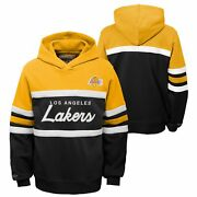 Mitchell And Ness Nba Youth Boys 8-20 Los Angeles Lakers Head Coach Hoodie