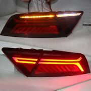 Led Taillights Lamps For Audi A7 Led Strip Rear Lights 2012-2017 Year Red Color