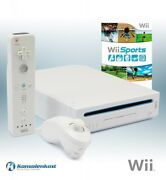 Nintendo Wii - Console White + Wii Sports + Official Remote + Equipment