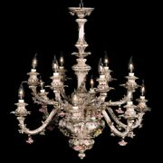 Capodimonte Made In Italy Chandelier 12 Light New Brown And Gold Finish