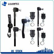 For 97-03 Ford F-150 2wd Suspension 10x Front Ball Joints Rods Idler Arm Kit