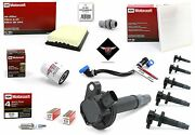 Tune Up Kit 2014 Lincoln Mkt 3.7l V6 Heavy Duty Ignition Coil Dg520 Sp520 Fa1884