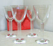 Baccarat Crystal Lyra Pattern Water Goblets 2