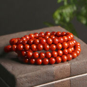 Chinese Natural Agate Nanhong 7mm Buddha Beads Exquisite Pretty Vogue Bracelet