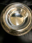 Vintage Barbour Silver Co Sterling 2743c Footed Repousse Large Solid Bowl.