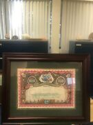 Framed Ringling Brothers Stock Certificate