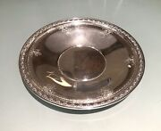 Vintage Antique Hallmarked Gorham Sterling Silver Embossed Plate Dish Tray Old