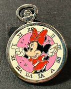 Minnie Mouse Stop Pocket Watch Clock Disney Trading Pin 2015 2/8 Mystery Coll