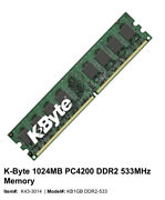 Kbyte 1024 Mb 1 Gb Pc 4200 Ddr2 533 Mhz Memory 761133840641 Used Ram