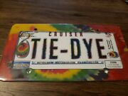Tie Dye License Plate Frame Cover Metal/resin Drop New Hippy