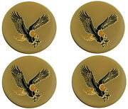 4 - Cream Eagle Bird Wheel Rim Center Cap Round Sticker Logo 1.75 / 44mm Dia