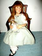 Julia Fischer One Of A Kind Ooak 16 Doll In Chair Made Of Cermit Super Sculpy