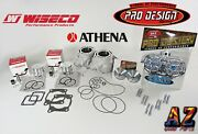 Banshee Athena 64mm Stock Bore Cylinders Wiseco Pistons Pro Design Head Domes