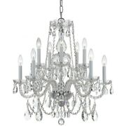 Crystorama Lighting 1130-ch-cl-s Crystal - Ten Light Chandelier In Classic