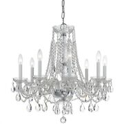 Crystorama Lighting 1138-ch-cl-s Crystal - Eight Light Chandelier In Classic