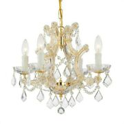 Crystorama Lighting 4474-gd-cl-s Maria Theresa - Four Light Mini Chandelier In