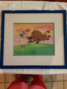 Woody Woodpecker Cel Signed By Walter Lantz 1987 With Universal Studios...