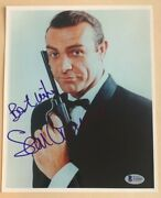 Sean Connery Signed Autographed 8x10 Photo James Bond Beckett Authenticated