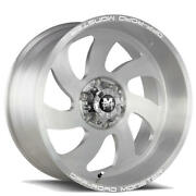 4 24 Off Road Monster Wheels M07 Silver Brushed Face Rims B42