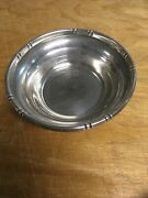 """Baldwin And Miller 69 Bamboo Sterling Silver Bowl 6"""" W X 1.75"""" H Weighs 145g"""