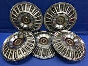 Vintage Set Of 5 1967andndash72 Ford 15andrdquo Hubcaps Galaxie Ltd F100