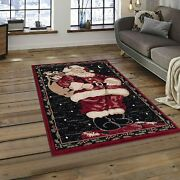 Christmas Ornaments Festival Party Xmas Decorations Santa Claus 4and039 X 5and039 Area Rug