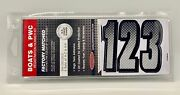 3 Inch Silver/black Shaded Boat Lettersnumbersstickersnumber Kit Sibkg300