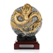 Royal Selangor Celestial Dragon Figurine With 24k Gold Plating In Wooden Giftbox