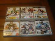 Madden Nfl 6 Game Playstation 3 Lot 09 10 11 12 13 25 Ps3