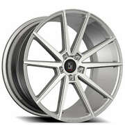 4 22 Staggered Koko Kuture Wheels Le Mans Silver Machined Rims B43