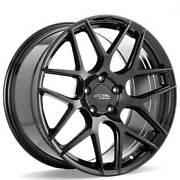 4 19 Staggered Ace Alloy Wheels Aff11 Gloss Piano Black Rimsb43