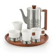 Royal Selangor Hand Finished Five Elements Collection Pewter Coffee Set Gift