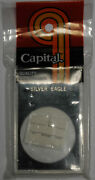 Capital Holder For 1 Silver Eagle Coin 2x3 White Quality Storage Snaplock = New