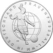Germany Commemorative Coin Special Coins 2011 St Women Football World Cup Loose