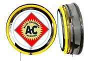 Allis Chalmers Milwaukee Ac Logo Sign, Neon Sign, Yellow Outside Neon, No Clock