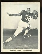 Early 1960and039s Jim Brown Cleveland Browns Team Issue Photo