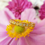 Antique Style Diamond Eternity Ring In 18ct Yellow Gold