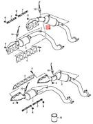 Genuine Audi A8 Exhaust Manifold Right Rear Cylinders 4-6 07p253020mx