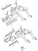Genuine Audi A8 Exhaust Manifold Left Rear Cylinder 10-12 07p253019mx