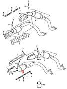 Genuine Audi A8 Exhaust Manifold Left Front Cylinders 7-9 07p253019kx