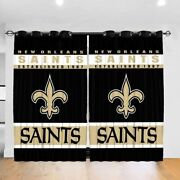 New Orleans Saints 2 Pack Lined Window Curtain Panel Drapes 63 84 95 108l