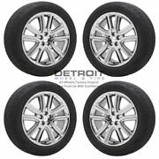 20 Ford Edge Pvd Bright Chrome Wheels Rims And Tires Oem Set 4 2019-2020 10197