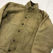40's50's Vintage U.s. Military Real Stencil N 1 Deck Jacket Size L Outer