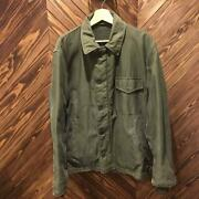 60s Us Navy A-2 Vintage Deck Jacket Initial Triangular Flaps Size M Outer