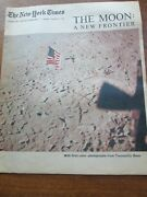 1969, Man On The Moon Ny Times Newspaper Special Supplement Scarce/vintage