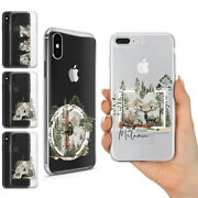 Personalised Name Wild Life Nature Wood Animal Gel Case Fits For Iphone 11 Xs 8
