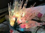Vintage Christmas Decoration Lot Angel Glass Ornaments Candle Holders Lights
