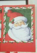 Boxed Set Christmas Cards Set Of 12, 7x5 Jolly Santa New In Box, Made In Usa