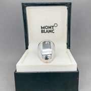 Estate Sterling Silver Mont Blanc Heavy Ring